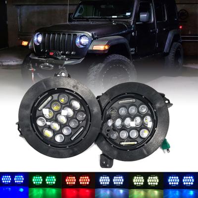 75w rgb jeep jl headlight